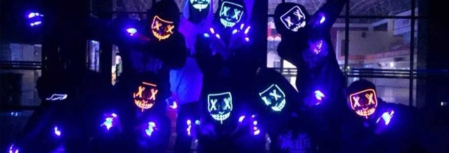 Las mascaras de la Purga con LED perfectas para Halloween